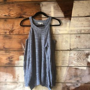 Anthropologie Sweaters - (Anthro) Willow & Clay Blue Open Shoulder Size S